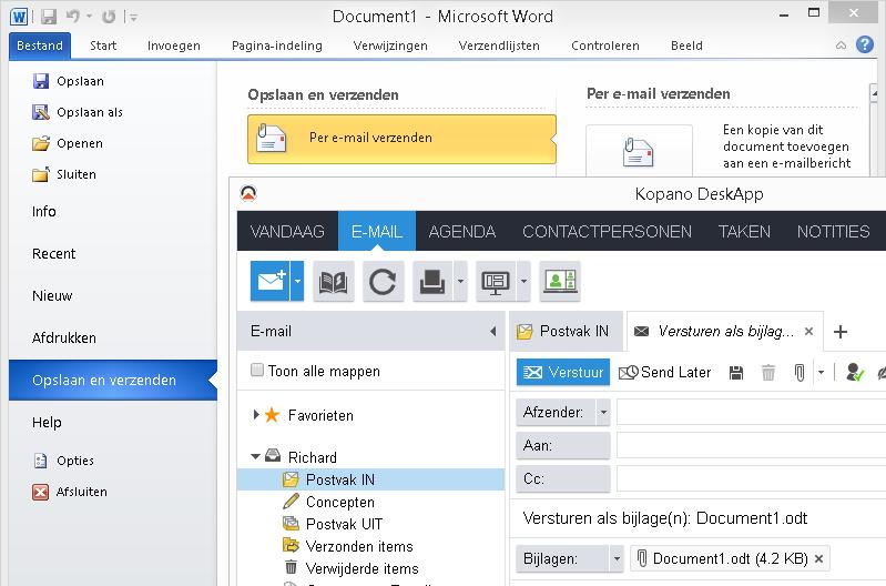 Desktopintegratie voor WebApp