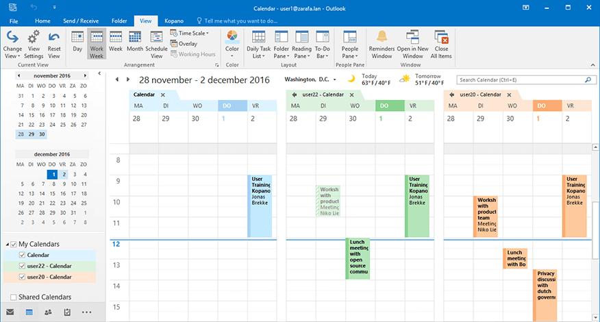 Kopano Outlook Extension