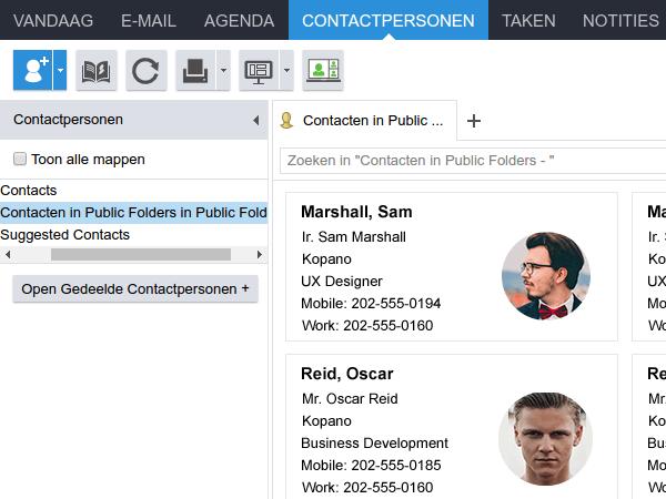 WebApp contacten
