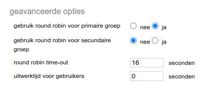 Screenshot geavanceerde opties